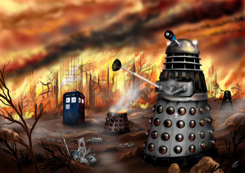 Dalek artwork by Alex Storer